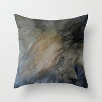 postcard Throw Pillows featuring postcard oracle by Imagery by dianna