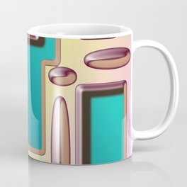 Digital Abstract Design with Embossed Effect Coffee Mug