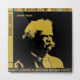 Mark Twain Book Lover Metal Print