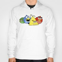 sesame street Hoodies featuring Angry Street by Olechka