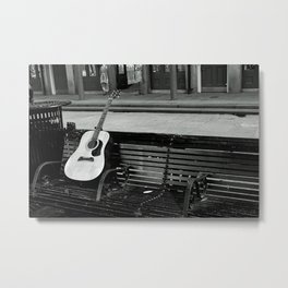 Lonely Guitar Metal Print