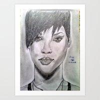Riri's drawing Art Print