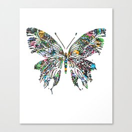 Butterfly Digital Drawing Canvas Print