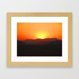 Wadi Rum Sunset Framed Art Print