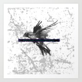 Of ravens and constellations Art Print
