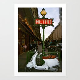 Paris scooter Art Print
