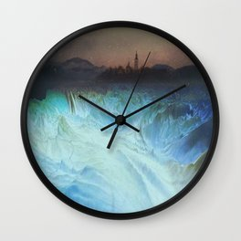 "Mixed Media, ""A World Alone"" 2014 Wall Clock"