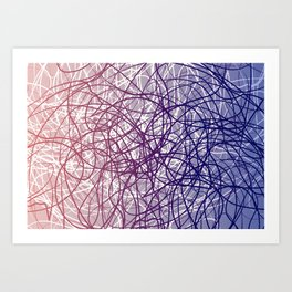 Neural Blue Art Print