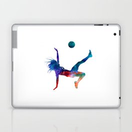 Woman soccer player 08 in watercolor Laptop & iPad Skin