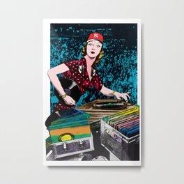 El DJ Metal Print