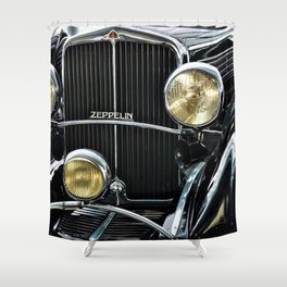 1930's Era German Zeppelin Vintage Automobile Shower Curtain