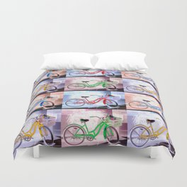 Bicycle Pattern Key West Duvet Cover