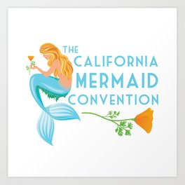 Simple Logo ·•· California Mermaid Convention Art Print