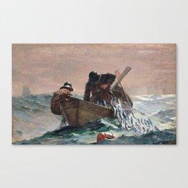 Winslow Homer1 - The Herring Net - Digital Remastered Edition Canvas Print