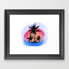 surfapimp island Framed Art Print