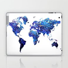 World Map blue purple Laptop & iPad Skin