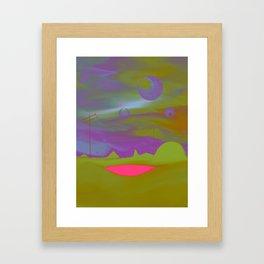 """Pool of Lunar Wisdom"" (Fuchsia/Yellow) Digital Painting // Fine Art Print Framed Art Print"