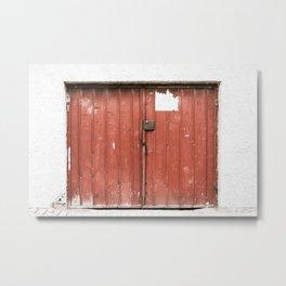 Kosovar Rustic Red Garage Door Metal Print