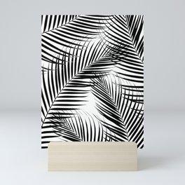 Palm Leaves - Black & White Cali Vibes #1 #tropical #decor #art #society6 Mini Art Print