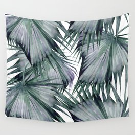 Tropical Leaves Green Wall Tapestry