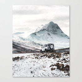 on the road in iceland Canvas Print