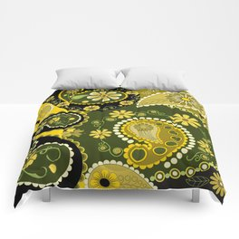 Paisley Patterns, Flowers and Circles Comforters