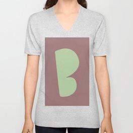 Hand-Lettered B Art Print Unisex V-Neck