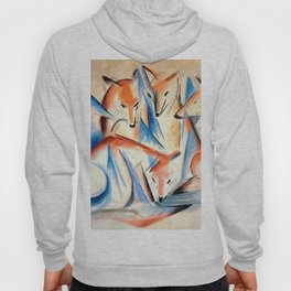 "Franz Marc ""Four foxes"" Hoody"