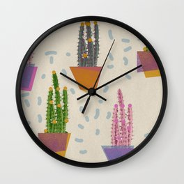 Cacti in the pot Wall Clock