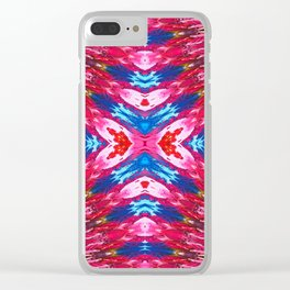 Seamless Kaleidoscope Colorful Pattern XCIII Clear iPhone Case