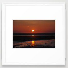 sunset over Saunton Framed Art Print