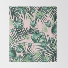 Tropical Jungle Leaves Garden #2 #tropical #decor #art #society6 Throw Blanket