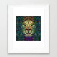 the lion king Framed Art Prints featuring Lion King by Zandonai