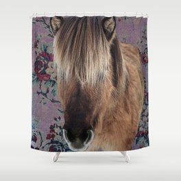 floral Icelandic pony Shower Curtain