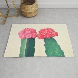 Plaid Cacti Rug