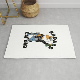 Badass Cat Dad | Funny Fathers Day | Fathers Day Gift | Badass Dad,  Gift for Dad Rug