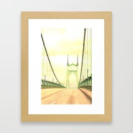 ST JOHNS BRIDGE Framed Art Print