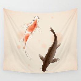 Yin Yang Koi fishes 001 Wall Tapestry