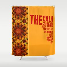 The calm Capricorn side of me Shower Curtain