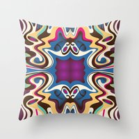 trip Throw Pillows featuring Trip by Cs025