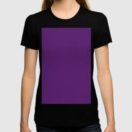 Rich Royal Purple - Jewel Tone - Plain Solid Block Colors / Colours - Autumnal / Fall / Berry Shades T-shirt
