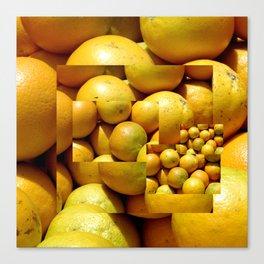 Photocollage - oranges 1 Canvas Print