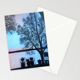 Buffalo lake at night Stationery Cards