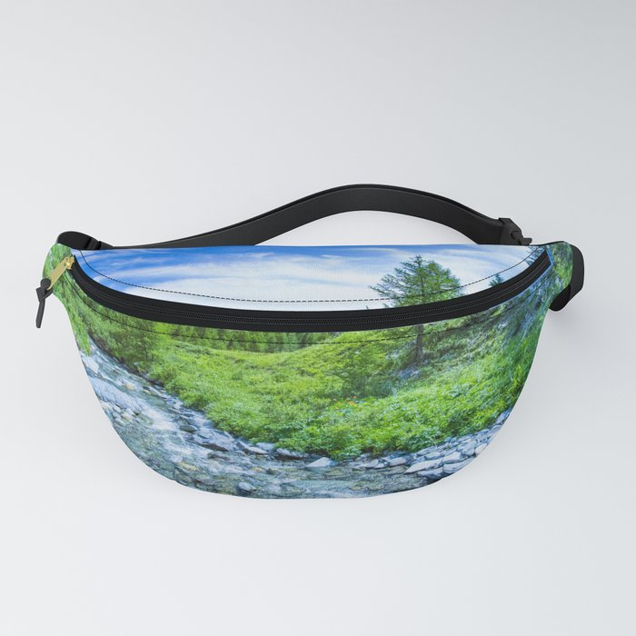 The Altai landscape with mountain river and green rocks, Siberia, Altai Republic, Russia Fanny Pack