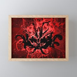 Scary Tribal Mask Framed Mini Art Print