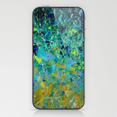 BEAUTY BENEATH THE SURFACE - Stunning Ocean River Water Nature Green Blue Teal Yellow Aqua Abstract iPhone & iPod Skin