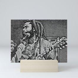 Dreadlock Rasta Mini Art Print