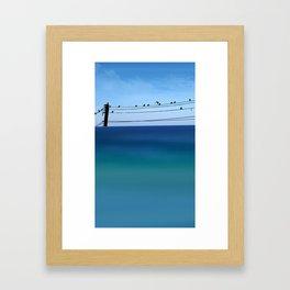Cretan Sea & Birds I Framed Art Print