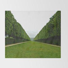 Between The Hedges Throw Blanket