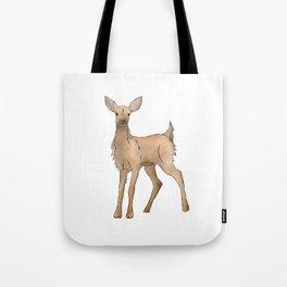 Cute Kawaii Brown Deer Watercolor Print Tote Bag